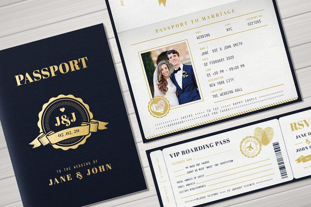 passport wedding invitations Unique passport wedding invitation ...
