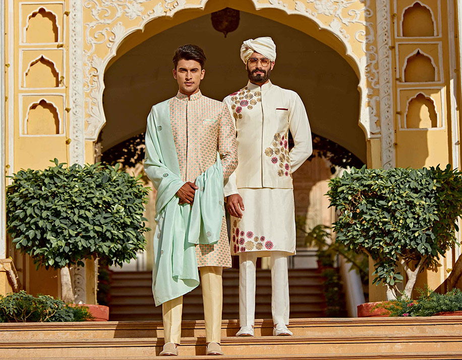 Groom wearing sherwani
