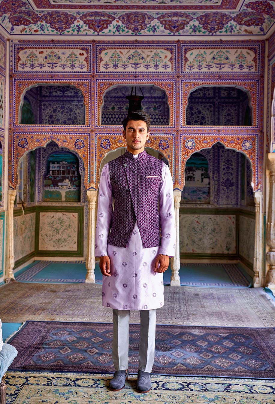 Groom in sherwani