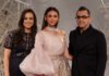 Designer Pankaj and Nidhi with Actor Aditi Rao @ FDCI India Couture Week 2019 (15)
