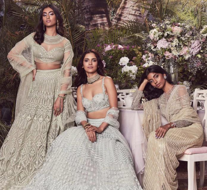 Bridal wear by wedding designer duo Falguni & Shane Peacock