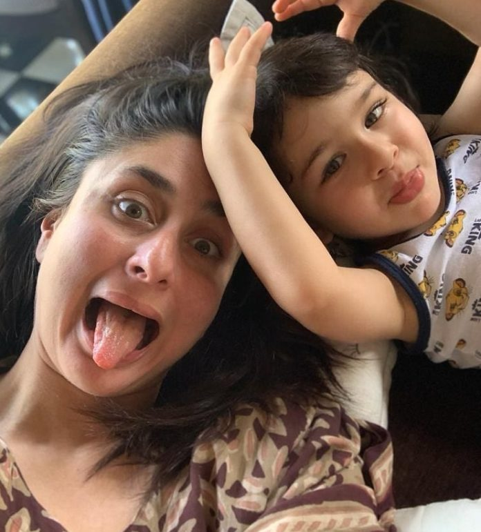 Little Munchkin Taimur Posing With Mom