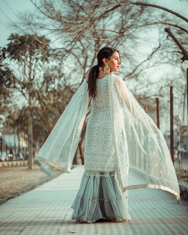bridesmaid in sharara