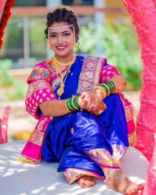 Blue Nauvari Saree
